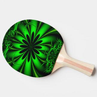 Abstrakter grüner Fraktal-Dschungel Tischtennis Schläger