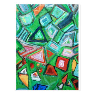 Abstrakter grüner Spielzeug-Kasten (gelegentliche Postkarte