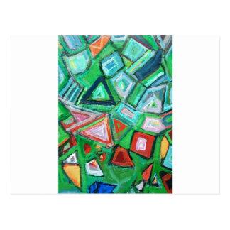 Abstrakter grüner Spielzeug-Kasten (gelegentliche Postkarten
