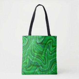 Abstrakter grüner Strudel-Entwurf Tasche