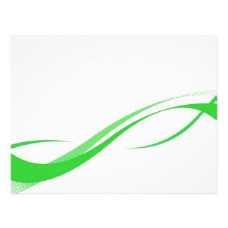 Abstrakter grüner Swoosh zeichnet Hintergrund Bedruckte Flyer