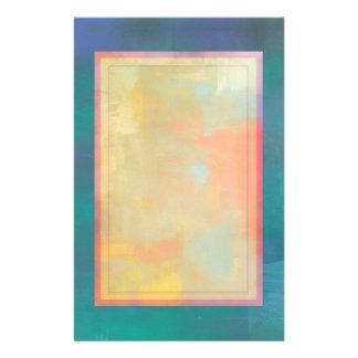 Abstrakter grüner und lila Serenity Briefpapier
