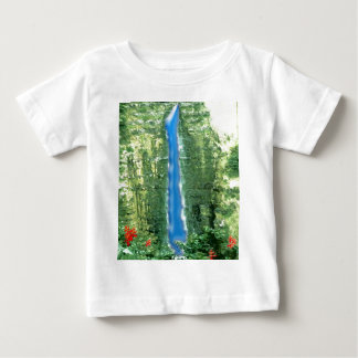 Abstrakter hawaiischer Wasserfall Baby T-shirt