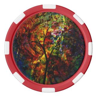Abstrakter Herbst Poker Chips