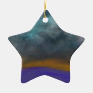 Abstrakter Himmel Keramik Stern-Ornament
