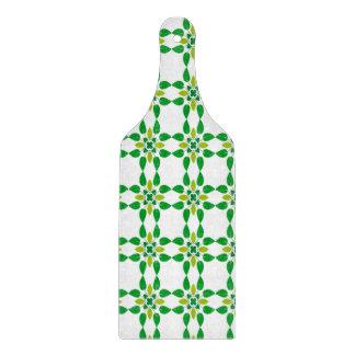 Abstrakter Hintergrund-Grün-Blatt-Entwurf Schneidebrett