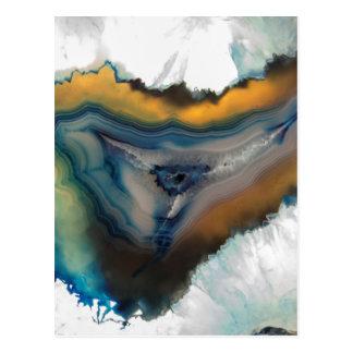 abstrakter Hintergrund mit Mineralsteinen Postkarte