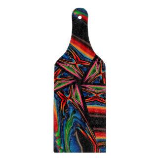 Abstrakter Hintergrund Multicolorwined Interwined Schneidebrett
