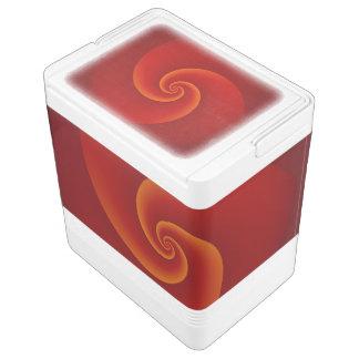 Abstrakter Hintergrund windt sich weich III Igloo Kühlbox