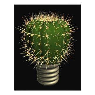 Abstrakter Kaktus Flyerdesign