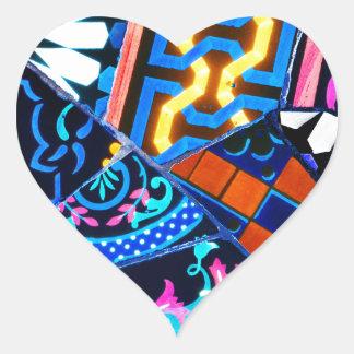 Abstrakter Keramikhintergrund Herz-Aufkleber