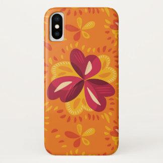 Abstrakter Klee im Rosa und im Gelb iPhone X Hülle