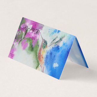 Abstrakter Kolibri gefaltete UAWG Karten