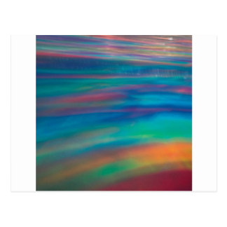 Abstrakter Kristall reflektieren Farbe Postkarte
