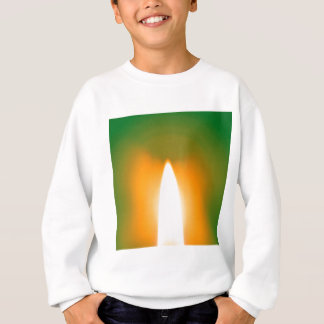 Abstrakter Kristall reflektieren Kerze Sweatshirt