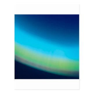 Abstrakter Kristall reflektieren Meeresgrund Postkarte