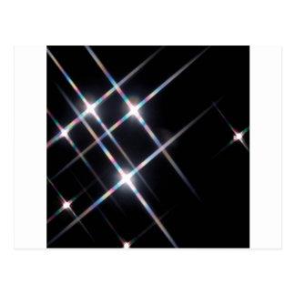 Abstrakter Kristall reflektieren Prisma Postkarte