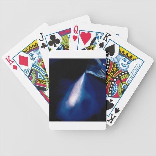 Abstrakter Kristall reflektieren Scheinwerfer Poker Karten