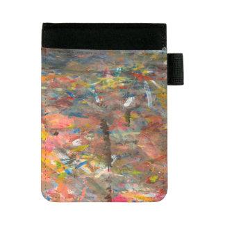 Abstrakter Kunst-Farben-Klecks bunt Mini Padfolio