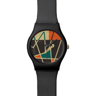Abstrakter Kunst-Jazz-Mann - kundenspezifische Armbanduhr