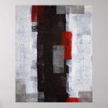 Abstrakter Kunst-Plakat-Schwarzweiss-Druck
