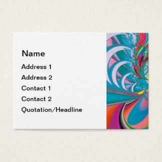Abstrakter Kunst-Sommer-Schmetterling Visitenkarte