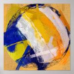 Abstrakter Kunst-Strand-Volleyball Plakatdrucke