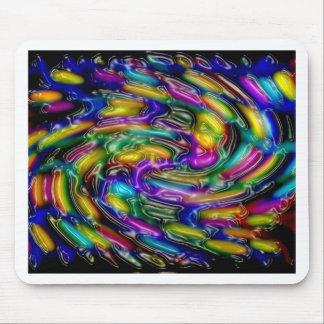 Abstrakter Kunstmalereiplakatkarten-T - Shirtdruck Mauspad