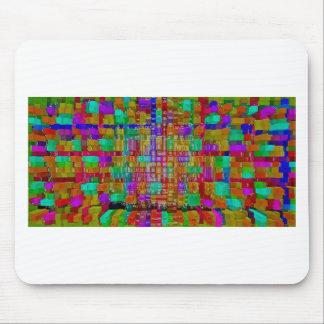Abstrakter Kunstmalereiplakatkarten-T - Shirtdruck Mousepads