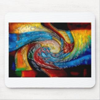 Abstrakter Kunstmalereiplakatkarten-T-Shirts Druck Mauspad