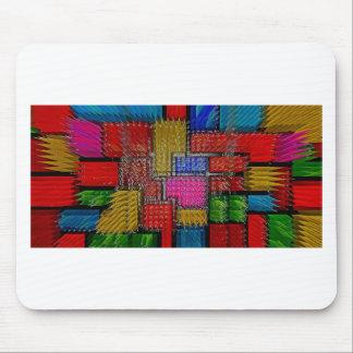 Abstrakter Kunstmalereiplakatkarten-T-Shirts Druck Mousepads
