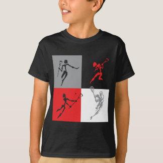 Abstrakter Lacrosse T-Shirt