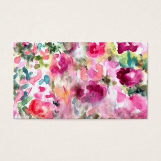 Abstrakter lila Watercolor-Blumenhintergrund Visitenkarte