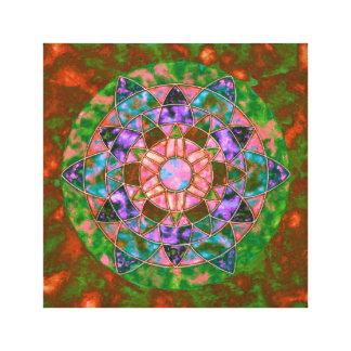 Abstrakter Mandala Leinwanddruck