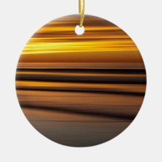 Abstrakter Meerblick am Sonnenuntergang, CA Rundes Keramik Ornament