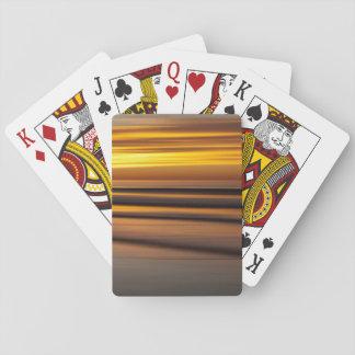 Abstrakter Meerblick am Sonnenuntergang, CA Spielkarten