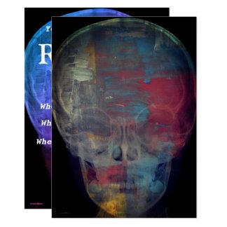 Abstrakter menschlicher Schädel Karte