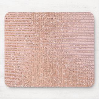 Abstrakter minimaler Rosen-Goldrosa-Glitzer-Grill Mousepad
