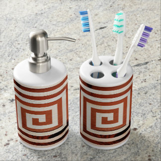 Abstrakter, moderner Entwurf auf Bad-Zusätzen Badezimmer-Set