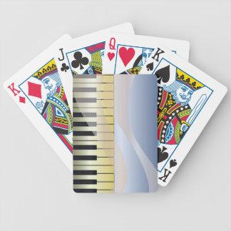 Abstrakter Musik-Hintergrund Bicycle Spielkarten
