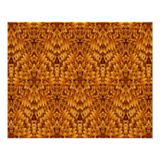 Abstrakter Muster-Brown-Hintergrund Poster