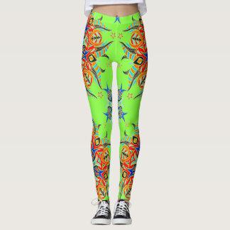 Abstrakter Muster-Entwurf (Limones Grün) Leggings