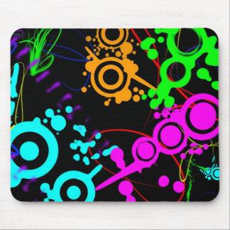 Abstrakter NeonSpritzer moderne Mausunterlage Mousepad