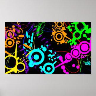 Abstrakter NeonSpritzer modernes canvus Plakat