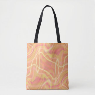 Abstrakter orange Strudel-Entwurf Tasche
