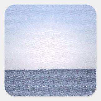 Abstrakter Ozean Quadratischer Aufkleber