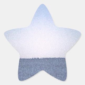 Abstrakter Ozean Stern-Aufkleber