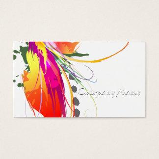 Abstrakter Paradiesvogel Farben-Spritzer Visitenkarte