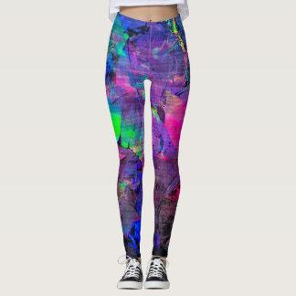 abstrakter Pastellfarbentwurf Leggings