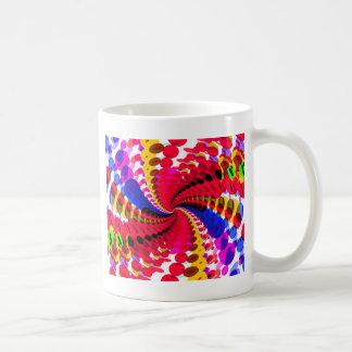Abstrakter/psychedelischer gewundener Entwurf: Kaffeetasse